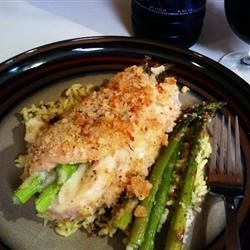 Asparagus and Mozzarella Stuffed Chicken